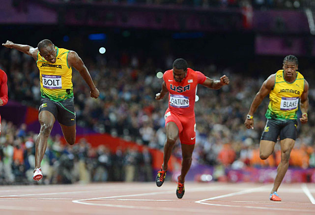 Usain Bolt ran a 10.63 to win the 100 for the second consecutive Olympics.