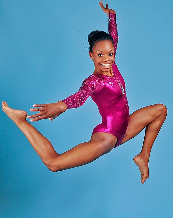 Gabby Douglas poses for a portrait during the 2012 Team USA Media Summit photo shoot.