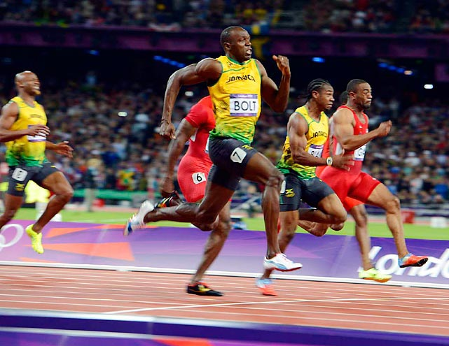 Usain Bolt became the first man to repeat as 100- and 200-meter champion and added another 4x100 gold to his haul as well.