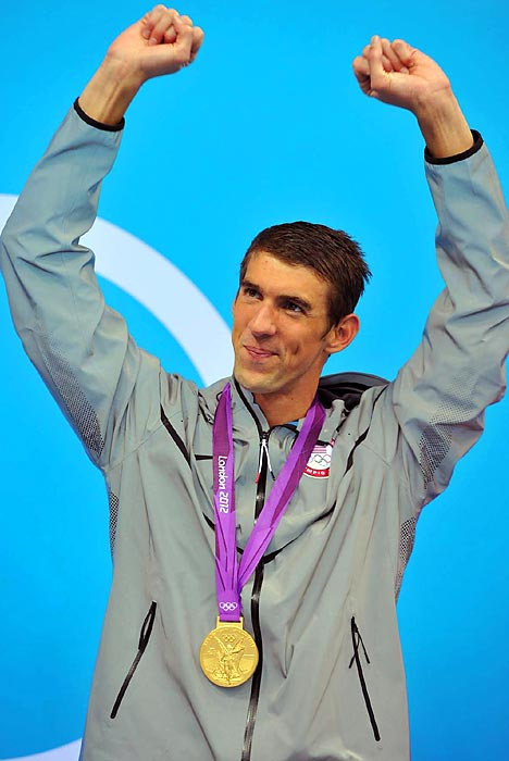 Michael Phelps went down in history as the most decorated Olympian of all time, ending his career with 22 medals, 18 of which are gold. He added four gold and two silver to his collection while in London.