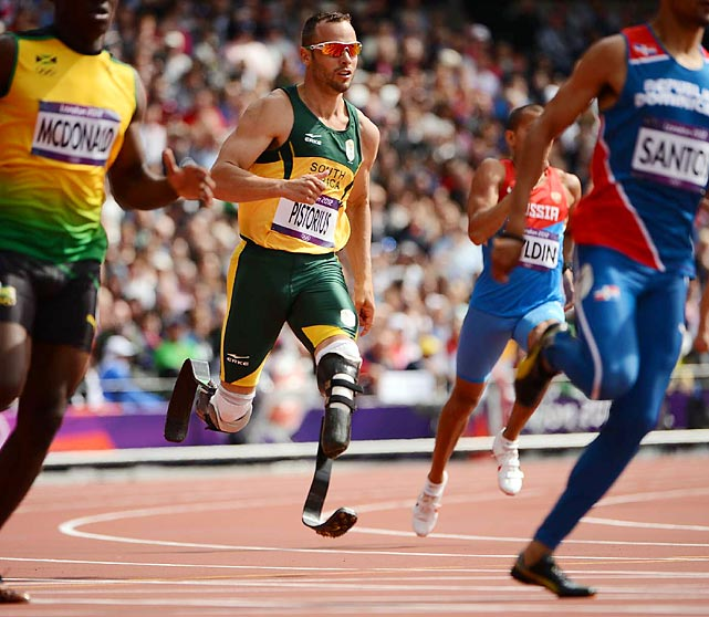 Oscar Pistorius made history when he became the first amputee runner to compete in the Olympics. Pistorius took second in his men's 400-meter preliminary race, but was eliminated in the semifinals. He ran the anchor leg on South Africa's 4x400 relay team.