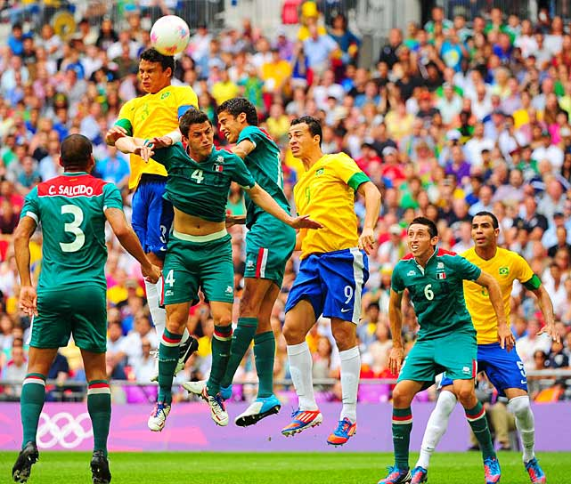 Mexico won the Olympic gold medal in men's soccer for the first time, upsetting Brazil 2-1. It is the biggest win in the country's rich history, even more important than its second-round World Cup victory over Bulgaria on home soil in 1986.