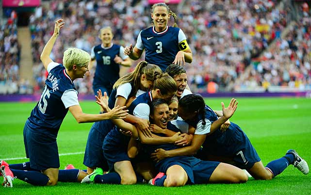 The U.S. women's soccer team had two seminal moments in London. First, Alex Morgan connected on a header in extra time to complete a controversial comeback win over Canada in the semifinals. Then the team avenged its 2011 World Cup loss to Japan by defeating it 2-1 in the gold-medal match, with Carli Lloyd scoring both goals as the U.S. won the Olympic title for the third consecutive time and fourth in the last five Olympics.