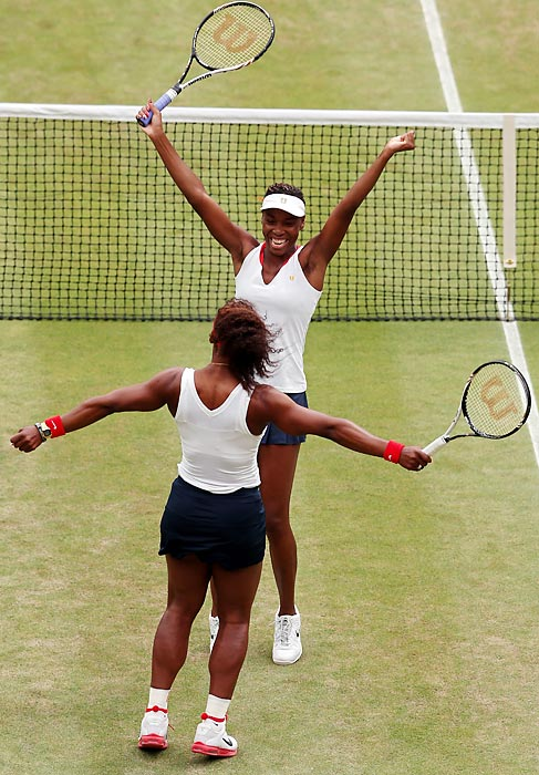Serena Williams joined Steffi Graf as the only women to win a career Golden Slam as Williams defeated Maria Sharapova in the gold medal match. Serena later joined sister Venus to win the doubles gold medal again.