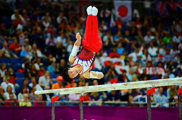 Japan's Kohei Uchimura the three-time world all-around champion who is considered by many the greatest male gymnast ever, won his first Olympic all-around gold.