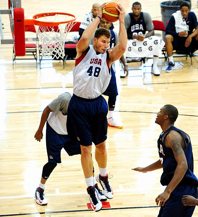 Griffin was headed to London before a knee injury derailed his Olympic plans. Size will continue to be at a premium for the U.S., and the 6-foot-10 Griffin's athleticism will allow him to share time at center. Griffin would be wise to polish his face-up game because international teams will pack the paint and force him to make mid-range jump shots.