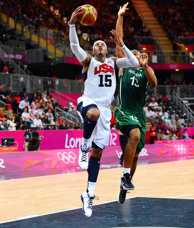 As maddening as Anthony's game is in the NBA, it's perfect for Olympic basketball. The burly forward can play multiple positions, score (16.3 points in 17.8 minutes in London) and rebound (4.8) while not getting criticized for overshooting (many do) or not defending (few do). Like James, Anthony may want to call it an international career, but the status of being a four-time Olympian may be too strong to resist.