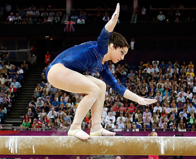 Okay, that was Drunk Lady Staggering Flip dismount! Made famous by many girls missing the top step in da club!