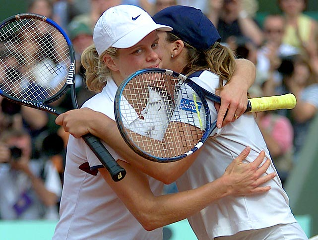 Clijsters reached her first Grand Slam final at the 2001 French Open, where she came up just short against Jennifer Capriati in an epic 6-1, 4-6, 10-12 loss. The two would go on to split their career series 3-3.