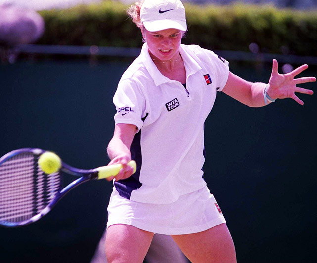 Clijsters played her way through qualifying to reach her first main draw at a Grand Slam event at Wimbledon in 1999. She scored a major upset in knocking off No. 10 Amanda Coetzer in the third round, but fell to No. 3 Steffi Graf in the Round of 16. A few months later, she would win her first WTA title, in Luxembourg.