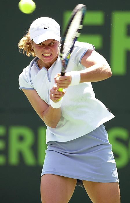 Clijsters cracked the top 20 for the first time in 2000. In Miami, she got her first taste of standing on the other side of the net against a world No. 1. Though she would go on to lose that match to Martina Hingis, Clijsters would take their career hear-to-head series 5-4.