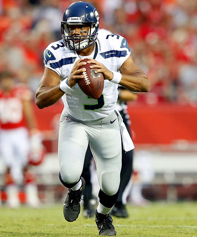 Russell Wilson, how about that? Seattle Seahawks starter, week one.