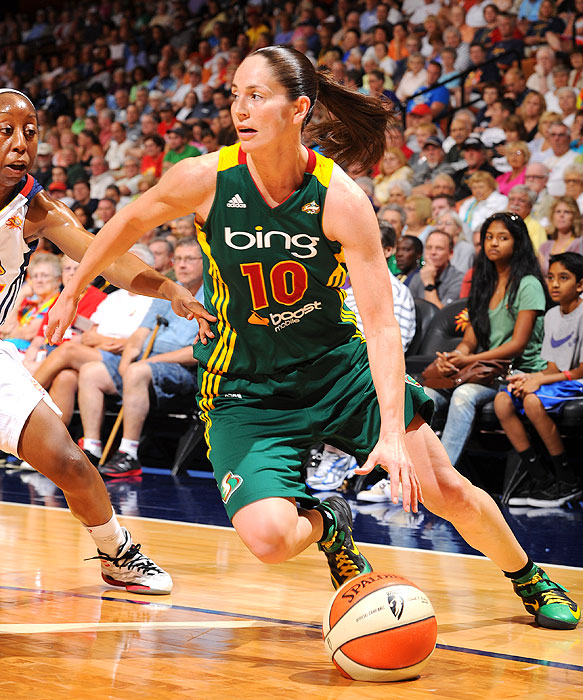 Bird (5.34 assists per game) finished the 2012 season barely behind Lindsay Whalen for league-best honors. She played in 29 regular season games and averaged 12.2 points.