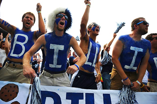 Fans show their support for the new Penn State regime.