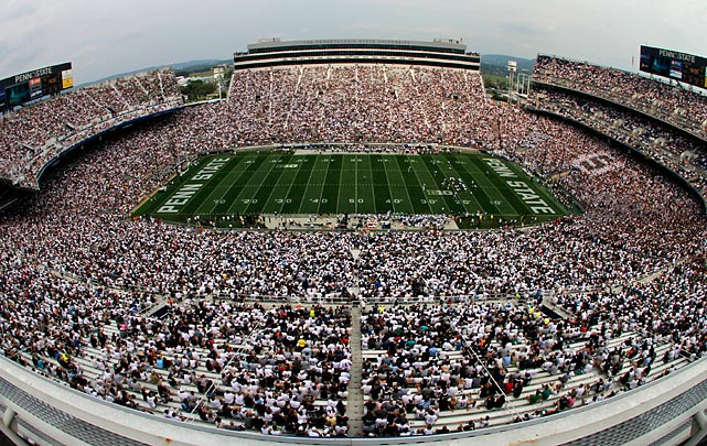 After an offseason of unprecedented scandal, Penn State resumed playing football on Saturday. Though NCAA sanctions have crippled the program in the wake of Jerry Sandusky's child sex abuse conviction, the community in State College still rallied to support the team, filling Beaver Stadium. The Nittany Lions led by 11 at the half, but went on to lose 24-14 to Ohio in Bill O'Brien's first game as head coach.
