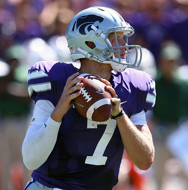 After routing Missouri State in Week 1, Kansas State notched an even more convincing victory in Week 2.  The Wildcats raced to a 24-3 first-half lead before cruising past Miami, 52-13. Senior quarterback Collin Klein (pictured) was particularly impressive. He passed for 210 yards, rushed for 81 yards and collected four total touchdowns.