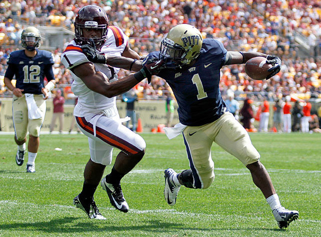 Though Pitt lost its first two games in underwhelming fashion, the Panthers pummeled the No. 13 Hokies to record their first win of the season. Quarterback Tino Sunseri completed 19-of-28 attempts for 283 yards and three scores, and the running back tandem of Ray Graham (pictured) and Rushel Shell combined for 251 yards and two scores. Virginia Tech signal-caller Logan Thomas struggled mightily, completing less than half of his passes (14-of-31) and tossing three costly interceptions.