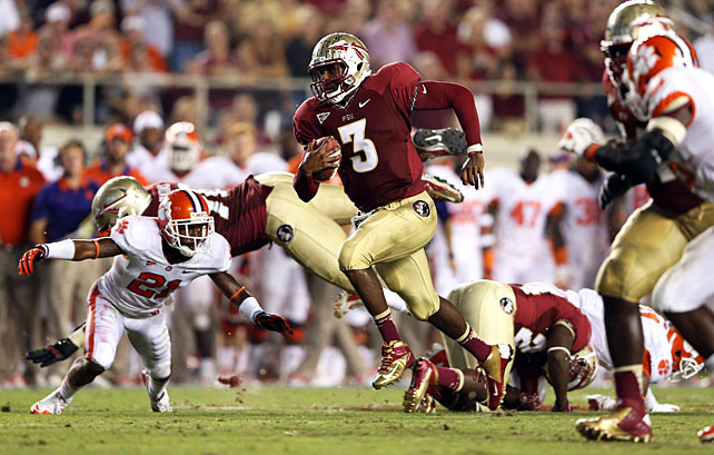 It was a back-and-forth affair in the first half, but Florida State took over in the second. EJ Manuel (pictured) accounted for 482 yards and two touchdowns, and Chris Thompson carried 15 times for 103 yards and two scores. After falling behind 31-21 in the third quarter, the Seminoles outscored the Tigers 28-6 to end the game.