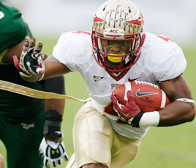 Chris Thompson and Florida State had trouble shaking South Florida until a defensive score in the third quarter gave the Seminoles a 30-10 lead. E.J. Manuel threw for 242 yards and a touchdown as FSU moved to 5-0 and won its fifth straight game away from Tallahassee dating back to last season.