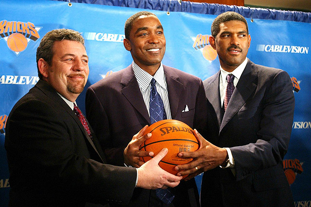 Thomas didn't stay unemployed for long. In late 2003, he was named the president of basketball operations for the New York Knicks. In that position, Thomas orchestrated several moves, trading for Stephon Marbury and Eddy Curry, among others. Despite robust financial resources, the Knicks finished with the worst record (23-59) in the East in 2005-06.