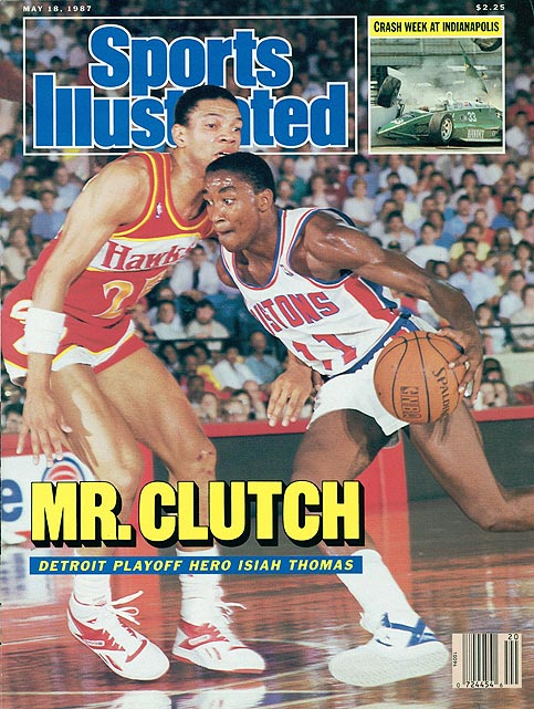 In 1987, Thomas helped lead the Pistons to the Eastern Conference finals. But with the NBA Finals on the horizon, Thomas stumbled in Game 5, throwing an inbounds pass into the hands of Larry Bird and giving away the game. The Celtics went on to win in seven games.
