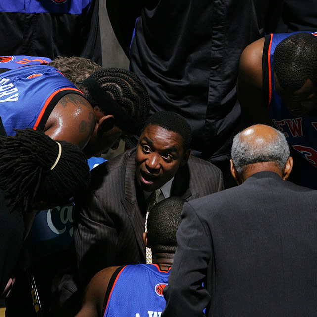 Following the buyout of coach Larry Brown in the summer of 2006, Thomas assumed coaching responsibilities in New York. With Thomas at the helm, the Knicks missed the playoffs for two straight seasons and tied a franchise worst with 59 losses during the 2007-08 season.