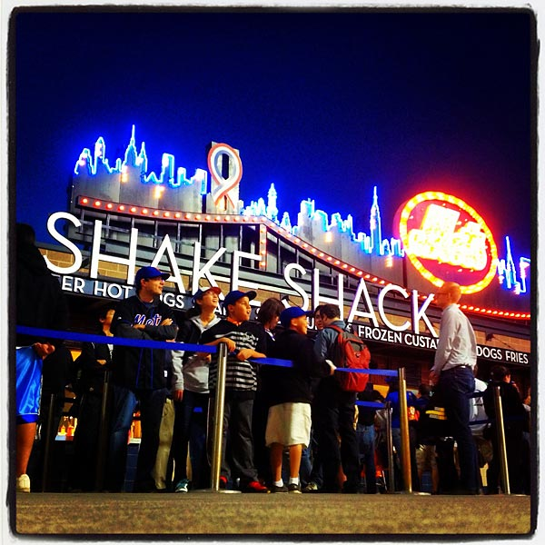 Long line at Shake Shack.