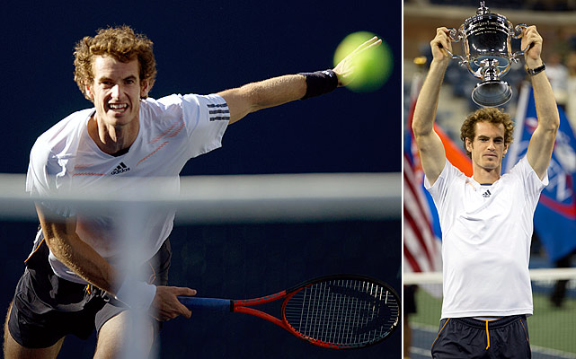 After losing in the Wimbledon final to Roger Federer and winning the gold medal in London, Murray was finally able to capture his first major with a victory in the U.S. Open. It didn't come easily; Murray looked well on his way after the first two sets, but he had to fend off Novak Djokovic to finally pick up his first major.