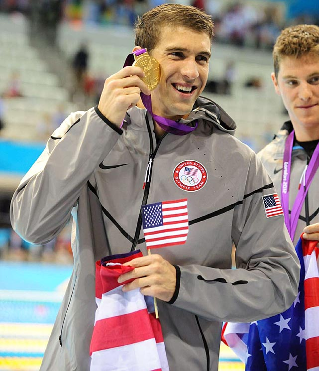 Michael Phelps became the most decorated Olympian in history with 19 medals after winning a gold medal in the 4x200-meter freestyle relay. Though he had a couple disappointing performances to start the 2012 Games, Phelps still left London with six medals and established himself as the most prolific Olympian in history.