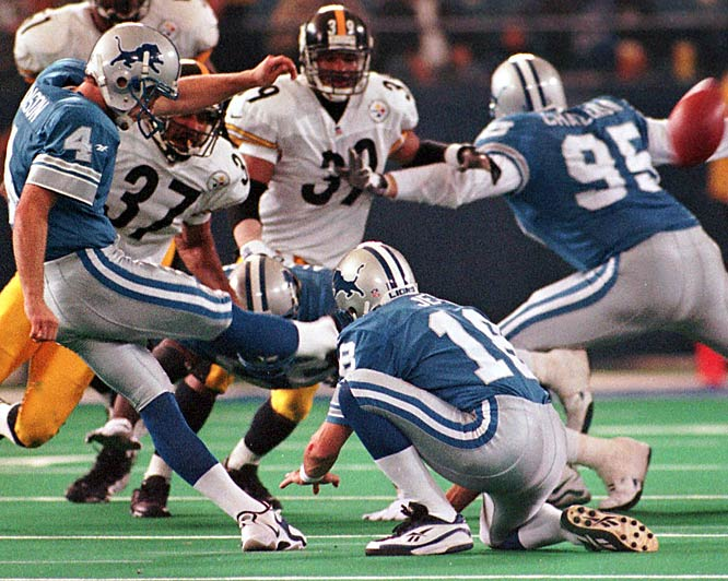 Sometimes a coin-flip can result in a blown call. On the midfield coin flip before overtime in a Thanksgiving Day game between the Steelers and Lions, Pittsburgh running back Jerome Bettis called tails. Referee Phil Luckett told pool reporters after the game Bettis had called ''heads-tails'' and Luckett went with the first thing he heard. The Steelers kicked off and never saw the ball again. A Jason Hansen field goal gave the Lions a 19-16 win.