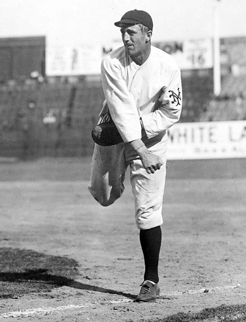 Starting for the New York Giants for the first time in his career, Fred Merkle (at 19, the youngest player in the National League in 1908) committed a colossal baserunning error that would follow him for the rest of his lengthy career. Standing on first in the bottom of the ninth of a 1-1 tie, Merkle assumed he didn't have to touch second base when the winning run was blooped in. As he trotted back to the dugout the ball was thrown to second and Merkle was called out, costing his team the victory. The play, nicknamed Merkle's Boner, cost the Giants a pennant.