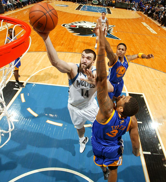 The NBA sample size is small, but the Wolves appear to have a gem in Pekovic, who averaged 13.9 points and 7.4 rebounds last season, only his second in the NBA. If Minnesota can re-sign the 26-year-old, they will have one of the promising frontlines in the league in Pekovic and power forward Kevin Love.
