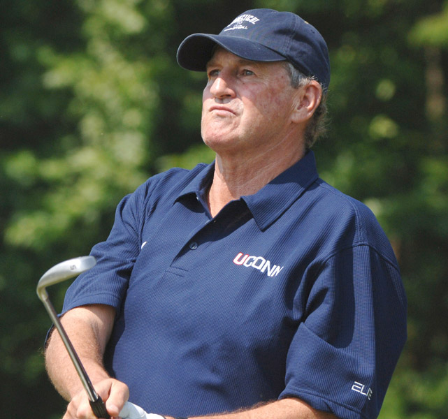 Outside of basketball, Calhoun might be best known as a philanthropist. He launched the Jim Calhoun Celebrity Classic Golf Tournament in 1999, which has helped raise over $2.5 million for the Jim and Pat Calhoun Cardiology Research Fund at UConn Health Center.