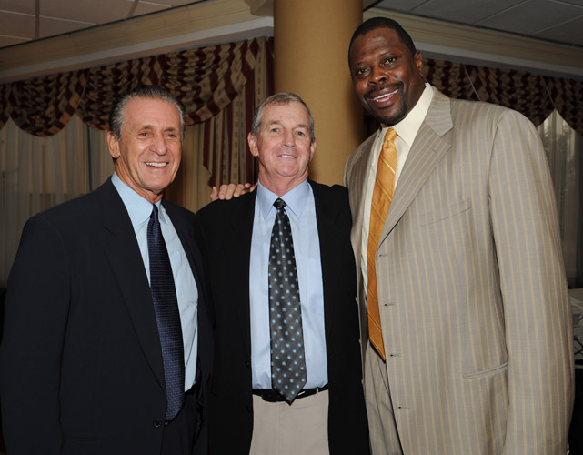 Flanked by two of the greatest Pat's in basketball history -- Pat Riley and Patrick Ewing.