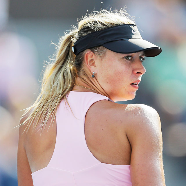 With a run to the semifinals, Maria Sharapova ensured she will take over the No. 2 ranking from Agnieszka Radwanska when the tournament concludes. But in the semis, she faced a relentless Victoria Azarenka. The match went the full three sets before the world No. 1 Azarenka prevailed 3-6, 6-2, 6-4. Since 2010, Sharapova is an astounding 104-2 when she wins the first set, but she couldn't that going against Azarenka.