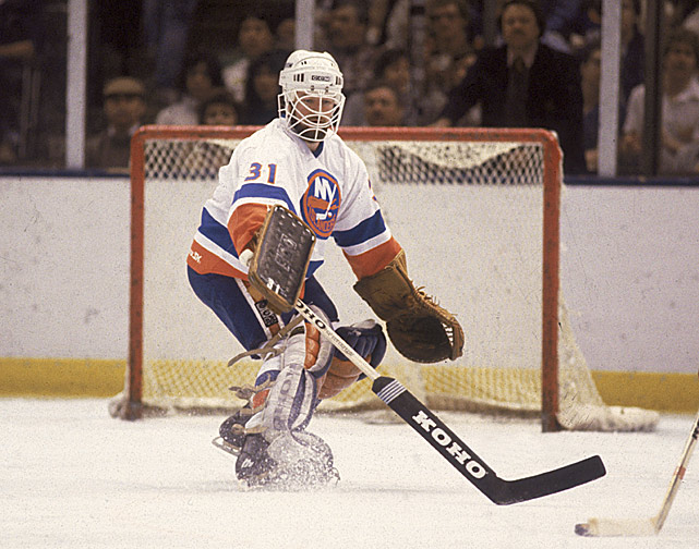 Anchored in net by Battlin' Billy Smith, the Isles rattled off a then-NHL record 15 consecutive wins (including nine at home) capped by John Tonelli's goal with 47 seconds left in the third period against the Colorado Rockies. (Final score: 3-2.) The game also marks the return of beloved former Isles netminder Chico Resch to the Coliseum as a visiting player. (The Penguins, losers of four of the Isles' magic 15, snap the streak 24 hours later with a 4-3 win at Pittsburgh's Civic Arena.)