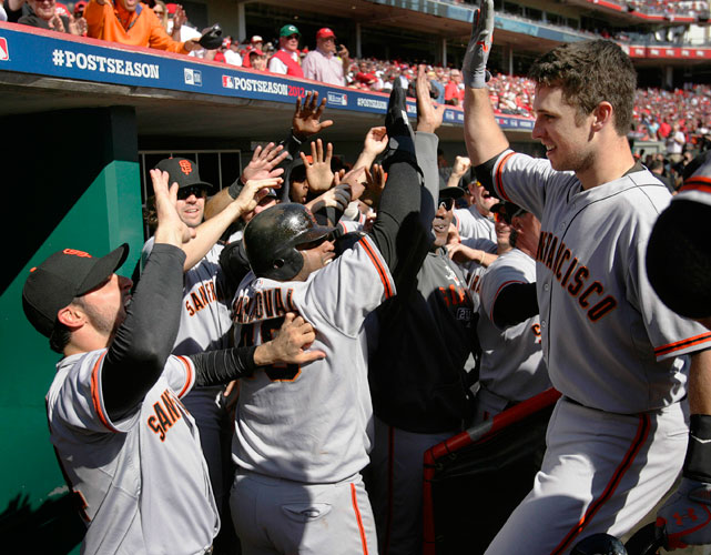 Down 2-0 to the Reds in the NLDS and headed to Cincinnati, things looked over for the Giants. They proceeded to win three straight games. Buster Posey hit a grand slam in a 6-4 decisive Game 5 victory.