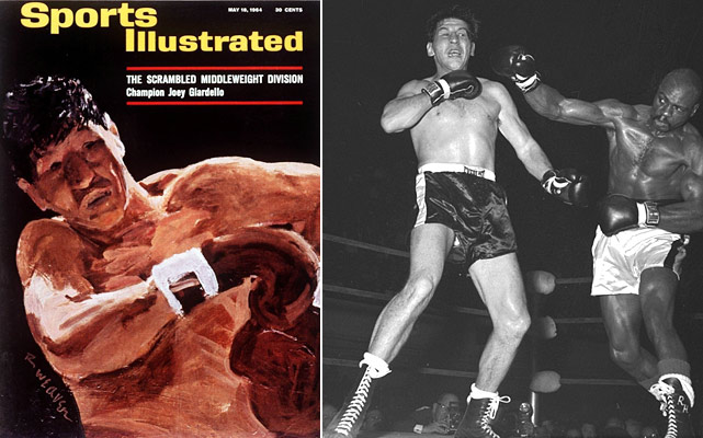 While much of his fighting glory would come in Philadelphia, Giardello's toughness and guile were born on the streets of Brooklyn.  Giardello won the World Middleweight title from Dick Tiger in 1963 and was elected to the International Boxing Hall of Fame in 1993.