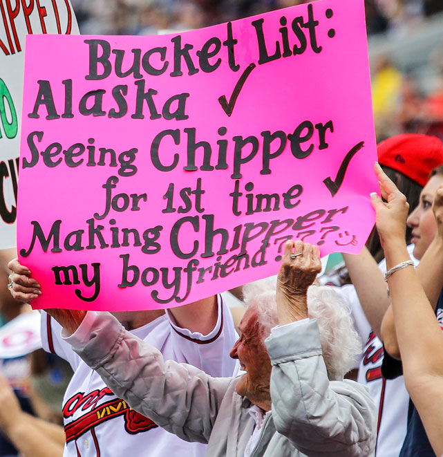 If fans across the sports world could band together for one cause, it should be to make Chipper Jones this woman's boyfriend.