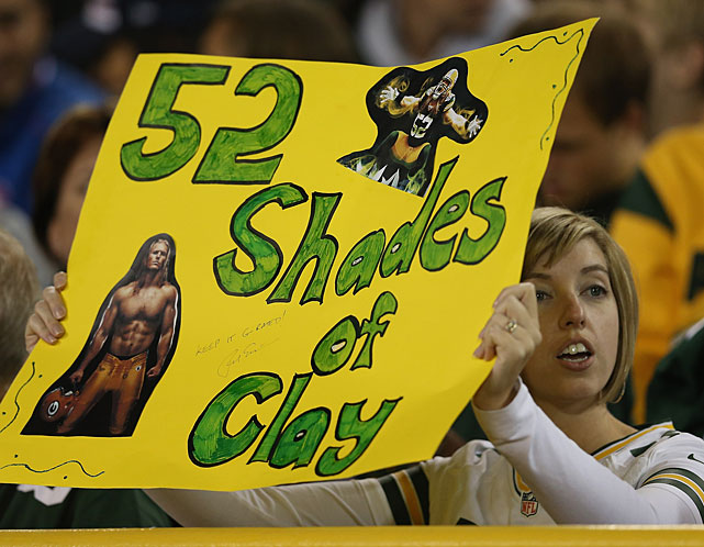 Christian Who? The apple of this Packers fan's eye is clearly Clay Matthews.