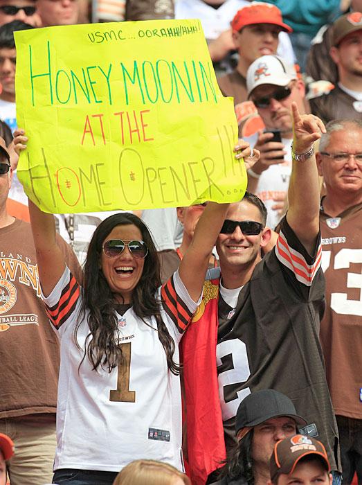 Popular wedding website  theknot.com  ranked Bora Bora as the No. 1 destination for a romantic honeymoon. No. 793? Cleveland Browns Stadium.