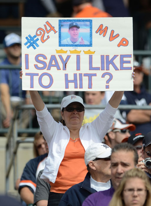 Mike Trout may have something to say about this sign, but a Triple Crown should sway MVP voters to choose Miguel Cabrera.