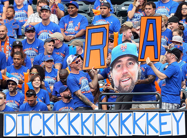 Clearly inspired by these fans, R.A. Dickey went out and won his 20th game of the season, becoming the first Mets pitcher to accomplish the feat in 22 years.