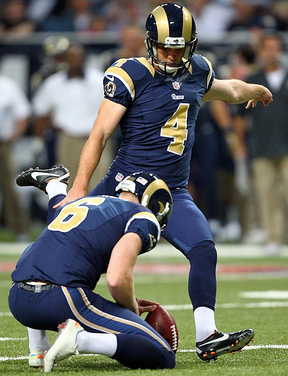Last week, the rookie set the Rams' franchise record for longest field goal with a 58-yarder, then follower up with a 60-yarder. This week, the man of many nicknames (Greg the Leg, Legatron, and my personal favorite, Young G.Z.) gets to kick against the undefeated Cardinals, who, as part of their defensive prowess, have allowed an NFL-high 14 field-goal attempts. And we all now know that Zuerlein has yet to see an NFL kick he can't make.