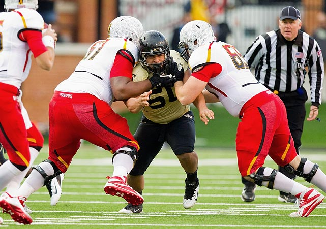 Nikita Whitlock is undersized, but one of the most physical players on the Wake Forest defensive line.