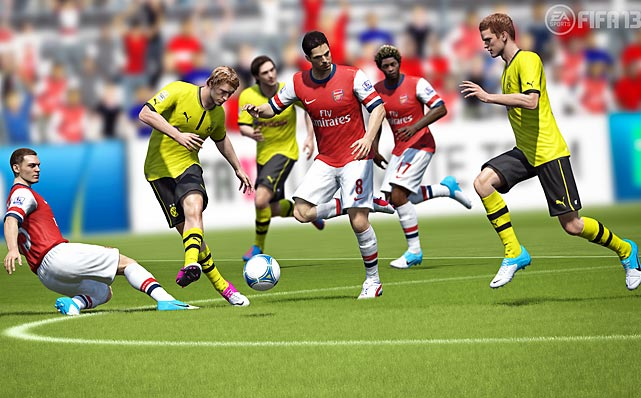 "EA's FIFA returns for another go at the beautiful game. One of the biggest changes this year is ""First Touch Control"", which adds a layer of unpredictability to ball control. The game uses player ratings and rate of speed to determine the quality of a pass and the ability to control it on the other end. EA has also improved the AI of your teammates, who now do a better job of positioning themselves for an attacking pass by making more aggressive runs into the defense. FIFA 13 features 32 skill games that are fun on their own, but also useful in helping you practice how to move, pass and shoot with greater control and precision. As always FIFA is loaded with single-player and multiplayer options for seasons, careers, ultimate team and tournaments. The new Club Match Day allows players to play real-life fixtures where real-life player performance is reflected in the games. FIFA fans will no doubt appreciate the gameplay improvements, and fans new to the franchise are in for one of the best sports games of the year.   Score: 9 out of 10"