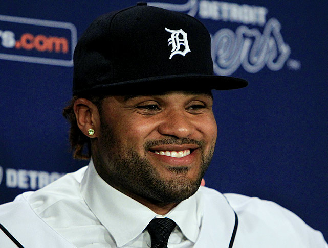 Just days after Victor Martinez tore his ACL, the Tigers swooped in to snag the biggest hitter still left on the free-agent market, giving Prince Fielder a nine-year, $214 million contract. Fielder would go on to bat a career high .313 while reaching 30 home runs for the sixth time and 100 RBIs for the fifth time.