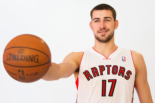 It took more than a year for him to make it to the NBA, but so far, Jonas Valanciunas appears to have been worth the wait for the Raptors. The 7-footer was a defensive force in scrimmages before he injured his calf, and fans hope the 20-year-old can be back in time for the Raptors' preseason debut.