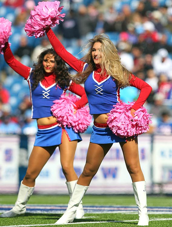 With Buffalo bills cheerleaders rather