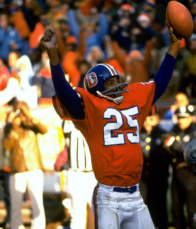 Broncos edge defending champion Oakland 20-17 to win the AFC title and reach their first Super Bowl. Quarterback Craig Morton, playing despite a virus and high fever, throws two TD passes to Haven Moses, and Denver's Orange Crush defense limits Oakland to fewer than 300 yards of offense.